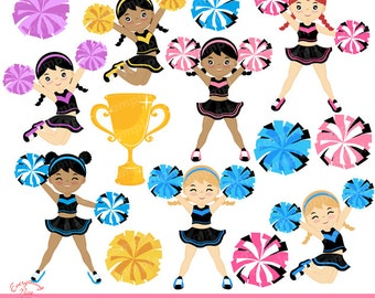 Cheerers Clipart Set