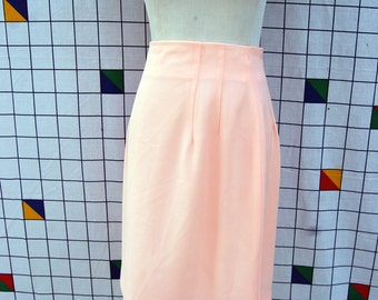 FADED NEON Light Bright Pink 70s Pencil Skirt