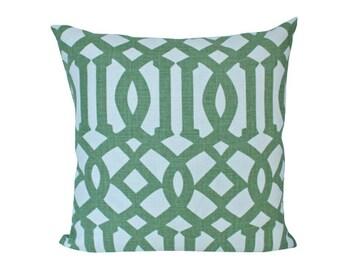 Green Treillage Imperial Trellis Schumacher Designer Decorative Pillow Cover