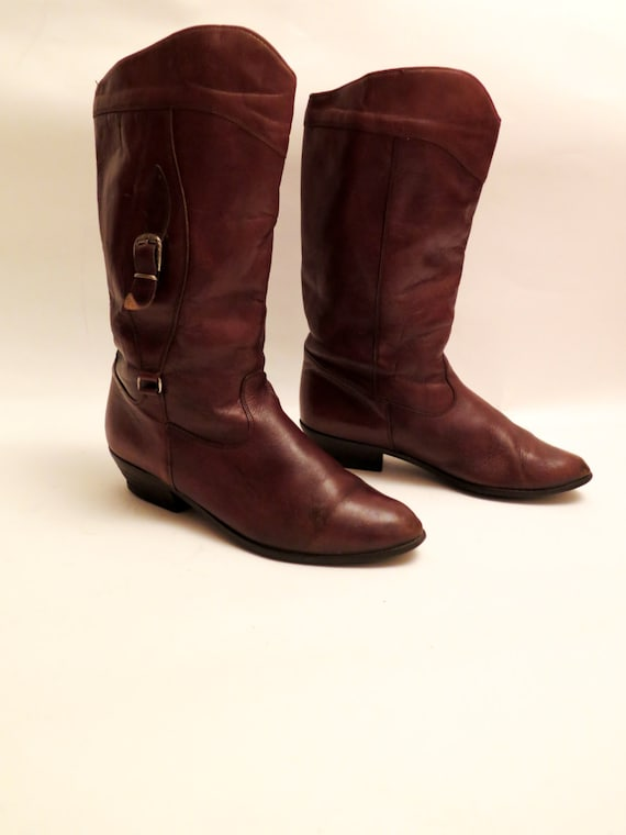 vintage brown leather ankle boots size 45 made in finland
