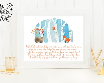 INSTANT DOWNLOAD, In the Bleak Mid-Winter Christmas Printable,  No. 227