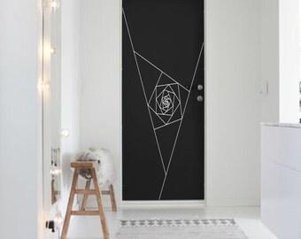 Optical Illusion - Door Vortex vinyl decal geometric art removable decor geometric art (ID: 151013)
