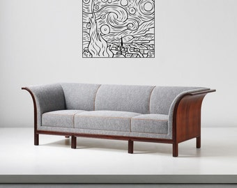 """Wall Art inspired by Van Gogh """"Starry Night"""" vinyl wall decal - removable sticker art decor (ID: 111056)"""