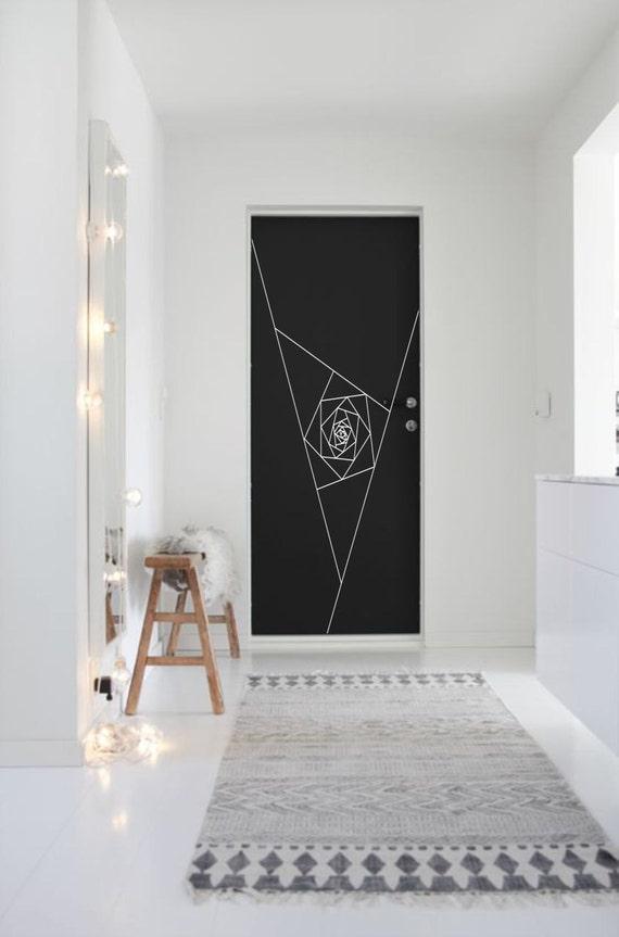 Like this item? & Optical Illusion Door Vortex vinyl decal geometric art pezcame.com