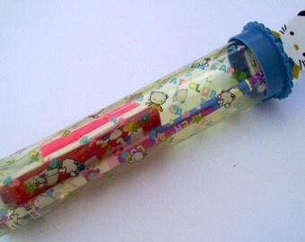 Caper Cat Pencil Set Kawai Kitty Pencil Holder Dainty Stationary 1990s Writing Supplies