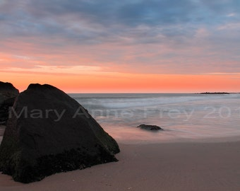 Sunrise At Spring Lake Belmar Border New Jersey Beach near Jetty