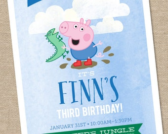 George Pig Birthday Invitation - 5x7 Printable