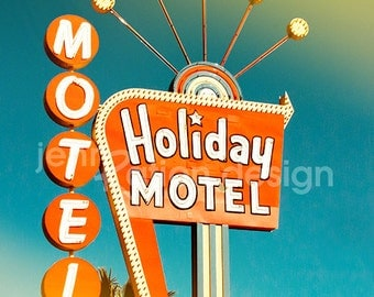 Neon Sign • Las Vegas Neon • Holiday Motel • Las Vegas • Vegas Photography Print • Retro Art • Antique Sign • Vintage Sign