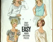 Butterick vintage pattern 1960, Misses' Blouse in Three Versions ...number 5285