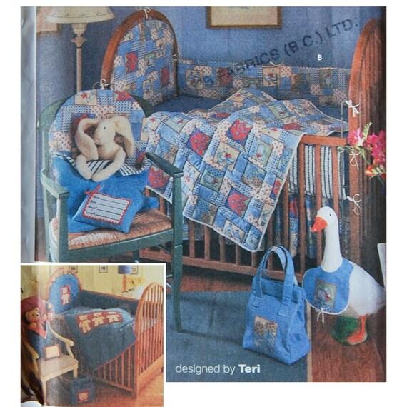 Nursery Blanket Crib Accessories Sewing Pattern Simplicity