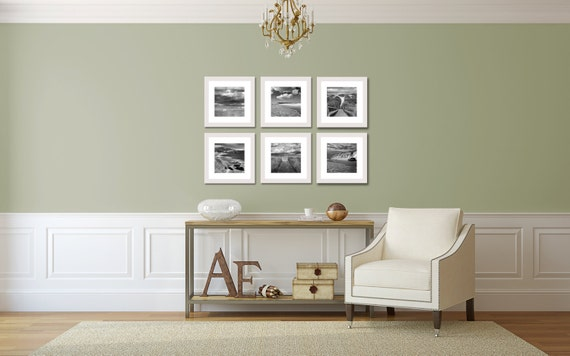 Items similar to beach photo set 6 six photographs gallery wall artwork coastal wall art black for White framed pictures for living room