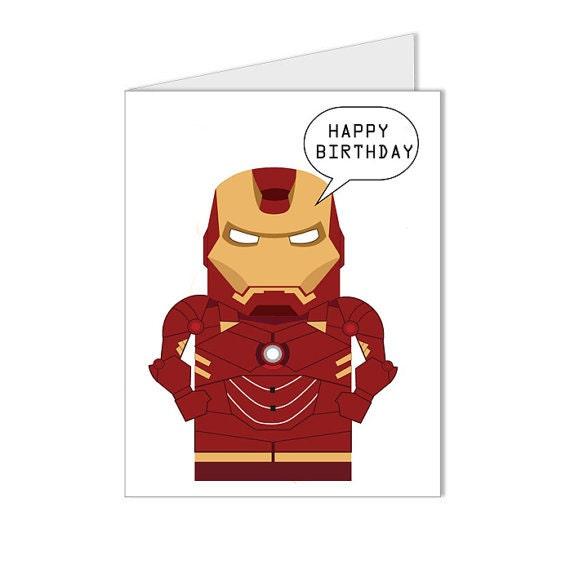 Get 10 OFF Happy Birthday Iron Man Superhero Collection – Iron Man Birthday Card