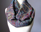 Black pashmina wrap scarf, Black scarf, pashmina, paisley scarf
