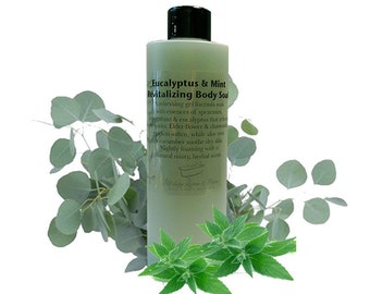 4oz Eucalyptus and Mint Revitalizing Body Soak, Bubble Bath, Spa Soak, Lotions and Potions