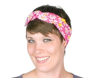 Retro 90s Daisy Print Hairband