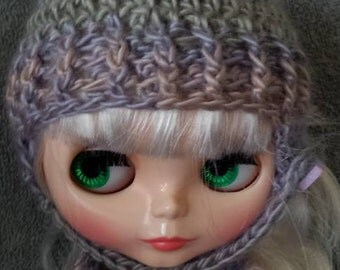 Chin Strap Hat for Blythe Doll.  Choose your colorway Shown in Springtime