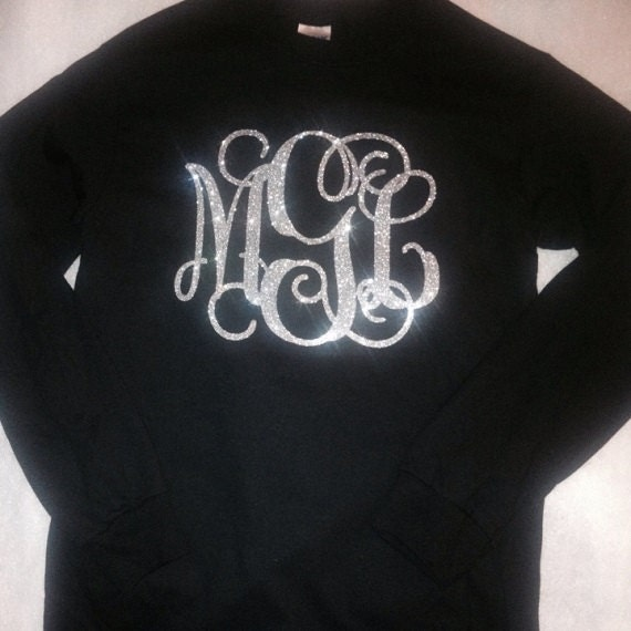 Glitter Monogram Iron On, Monogram Iron On Transfer, Iron On Letters ...