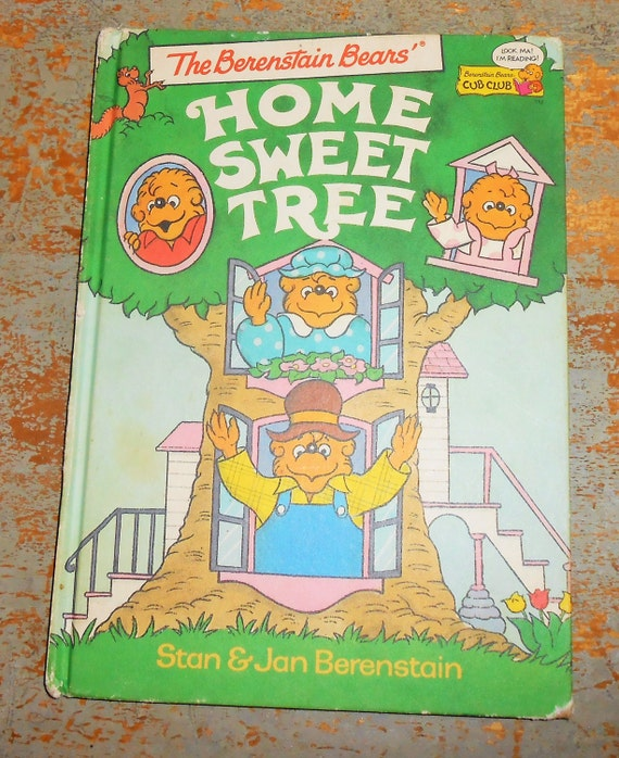 Berenstain Bears Old Book Cover : Vintage children s book berenstain bears home