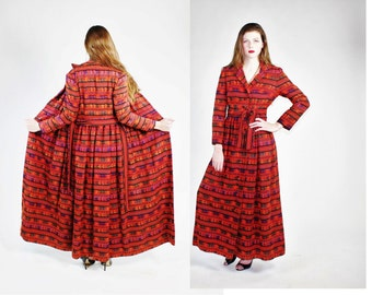 1970s Bohemian Tapestry Stunning Embroidered Full Length Maxi Coat