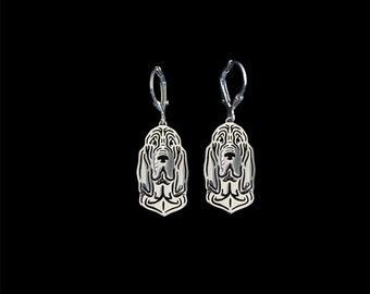 Bloodhound earrings - sterling silver