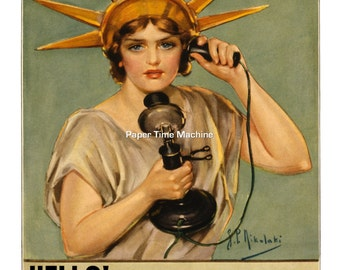 HELLO! This Is Liberty Speaking...Billions Of Dollars Are Needed WWI Vintage Art Print - Digitally Remastered Fine Art Print / Poster