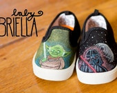 ON HOLD FOR September Momtourage - Custom Hand-Painted Toddler Shoes