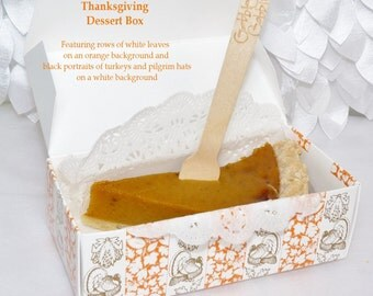 THANKSGIVING Pie, Dessert, Candy, Snack Box, 15- wax coated Paper 1/2 lb. Candy Boxes , Parties, Picnic,Cook Out, Tailgating, Kids, Reunions