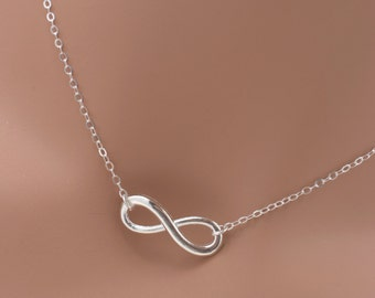 Set of 6 Infinity Bridesmaid Necklaces, Silver Infinity Necklaces, Set of 6 Bridesmaid Sterling Silver Necklaces 0197