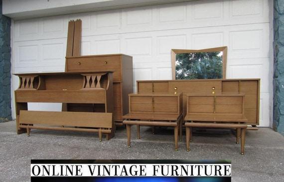 RARE 1950s Bedroom Set Kent Coffey Sequence dresser credenza – 1950s Bedroom