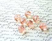 Czech Glass Beads - Vintage Pink - Round Beads - 6 mm or 8mm - 1 strand - Czech Glass Faceted Round Beads - Fire Polished (B19)