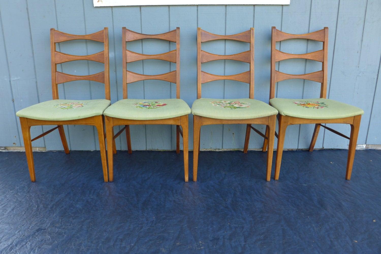 lane rhythm dining chairs mid century modern by zeejunkhunter