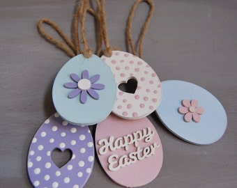 Handmade easter Egg decorations  -  Set of 5
