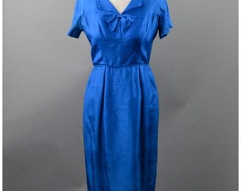 Vintage Blue Silk Dress