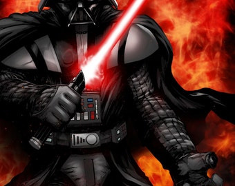 Lord Darth Vader Print by Hanzozuken