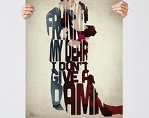 SUMMER SALE 20% OFF! *See Item Details for more info* Give A Damn - A film typography quote art poster print by Pete Ware