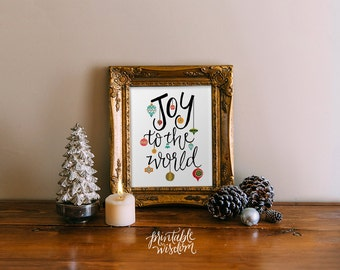 Christmas wall art printable winter decor holiday decoration print Printable Wisdom art christmas art print hand lettered calligraphy
