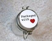 Gift Packaging, Gift Wrap, Packaged with Love, Round Stickers, Envelope Seal, Gift Tags, Stickers