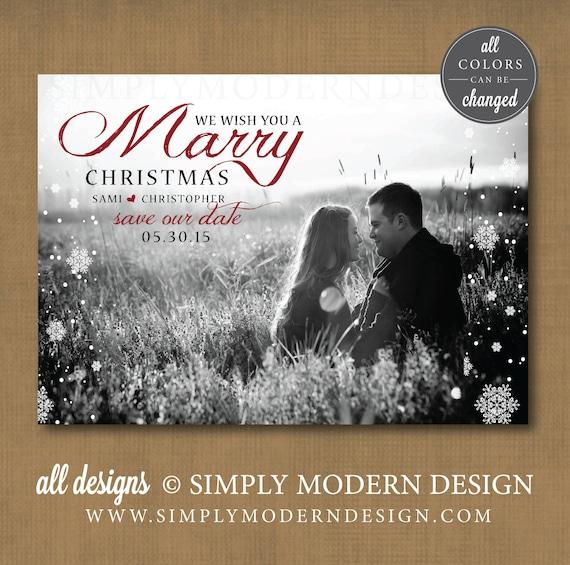 save the date christmas card marrysimplymoderndesignx