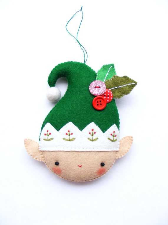 PDF pattern - Christmas elf - Felt Christmas ornament ...