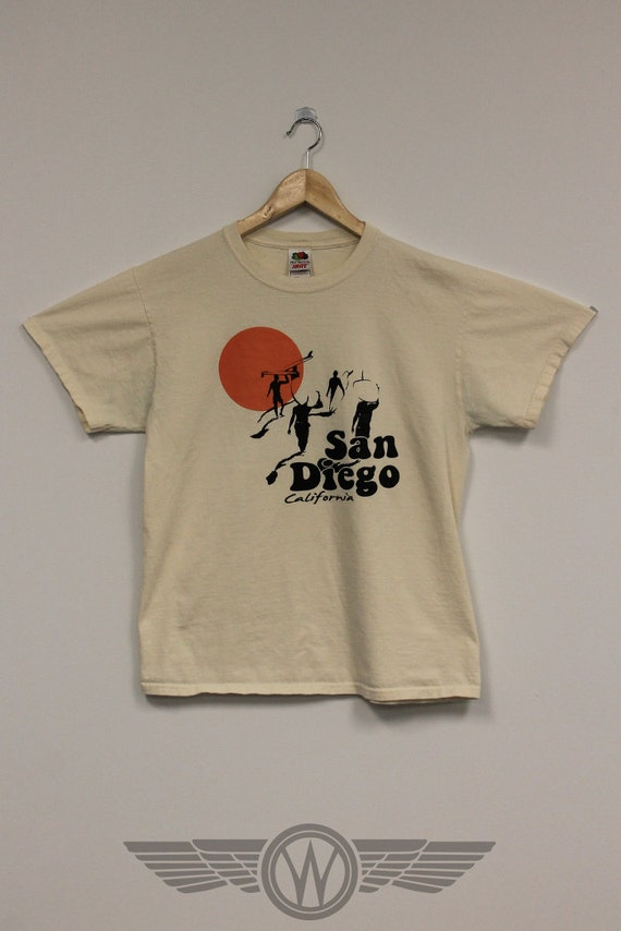 San diego california vintage t shirt weasel by weaselvintage for Shirt printing san diego