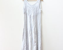 Pale Embroidered Indian Maxi Dress