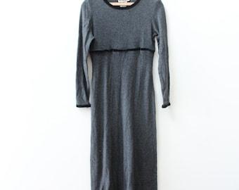 Soft Grey Winter Maxi Dress
