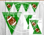 Football Party - Printable Football Flag Banner - Sports, Football,Field, Birthday Party Printables, Decoration - INSTANT DOWNLOAD