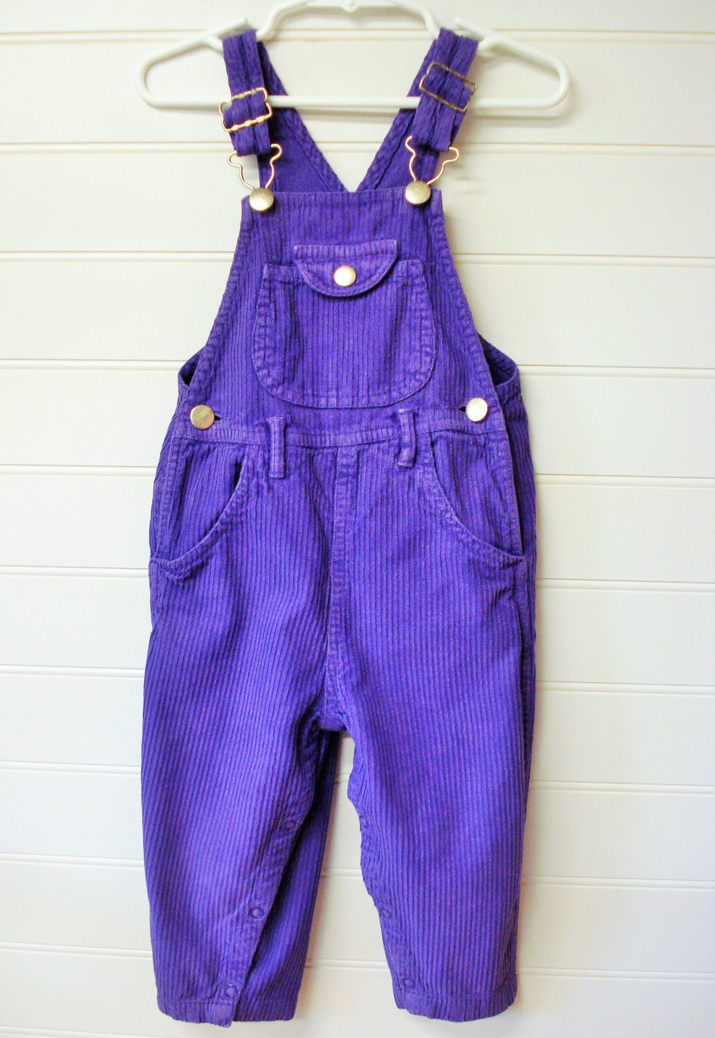 Vintage baby clothes baby girl overalls purple corduroy