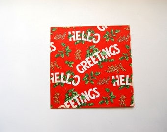 Mid-Century Holiday/Christmas Wrapping Paper, Vintage Gift Wrap