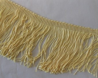 """Yellow Chainette Fringe - 4"""" Wide"""