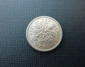 British Sixpence Coin for Wedding or Collecting