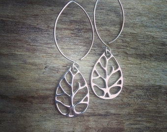 Claire~Leaf Earrings~Sterling Silver~