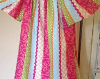 Patchwork Peasant Dress