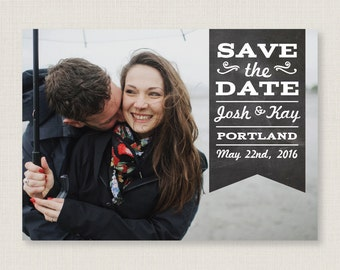 Custom save the date. Stylish and modern wedding announcement, available as a postcard. Completely customizable and printable. #28